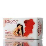 Condoms Romantic Red Grape x12