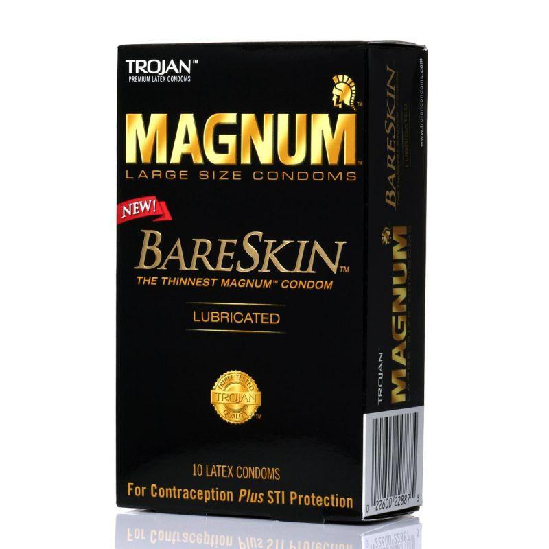 Trojan Condom Magnum, Magnum Xl Ou Magnum Thin, Big Size X10-8730